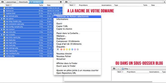 installer wordpress via ftp serveur